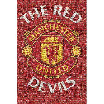 Manchester United mosaïque affiche Poster Print