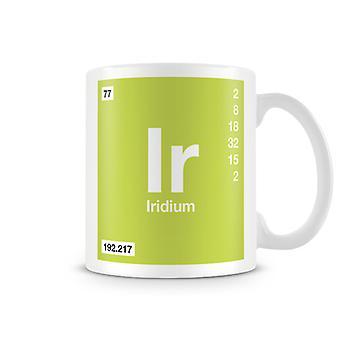 Videnskabelige trykt krus byder Element Symbol 077 Ir - Iridium