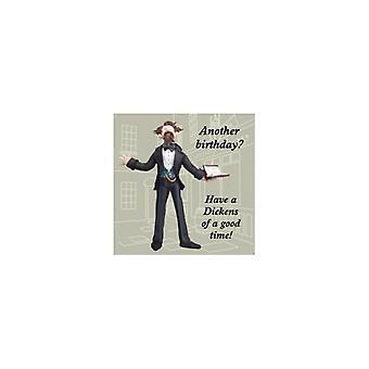 Union Jack käyttää Charles Dickens-Syntymäpäiväkortti