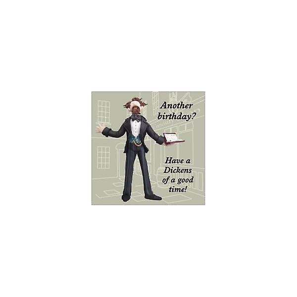 Union Jack Wear Charles Dickens Birthday Card