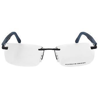 ポルシェデザイン P8232 D 長方形 |マットシルバーブルー |眼鏡フレーム