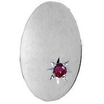 David Van Hagen Ruby ovale zilveren Tie TAC's - zilver