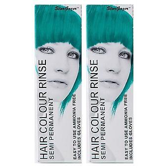 Stargazer półtrwałe kolor włosów tropikalny zielony (2-Pack)