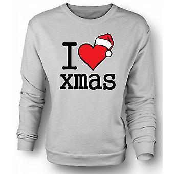Mens Sweatshirt I Love Xmas - Funny Christmas