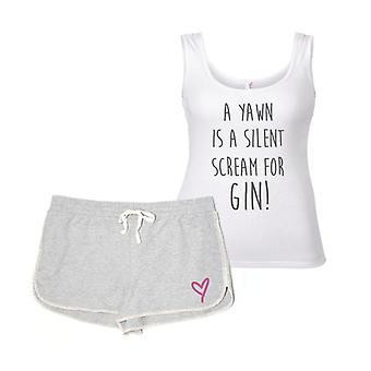 Uno sbadiglio è un urlo silenzioso per Gin pigiama