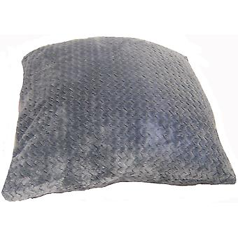 Country Club Chevron Fleece Jumbo Scatter Cushion, 55 x 55cm, Grey
