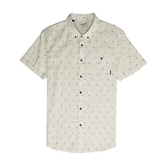 Billabong All Day Jacquard Short Sleeve Shirt in Stone Heather