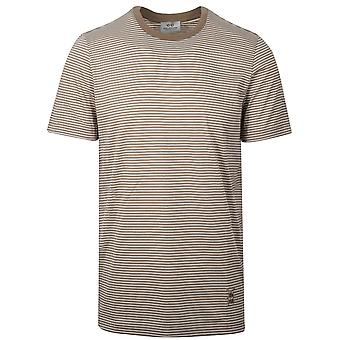 CC Collection Corneliani Beige Striped T-Shirt