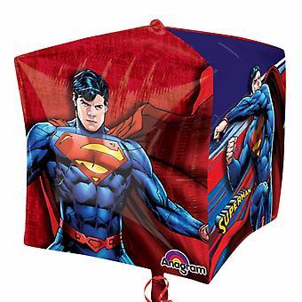 Anagram Superman Supershape Cubez Foil Balloon