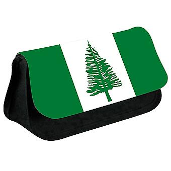 Norfolk Island Flag Printed Design Pencil Case for Stationary/Cosmetic - 0226 (Black) by i-Tronixs
