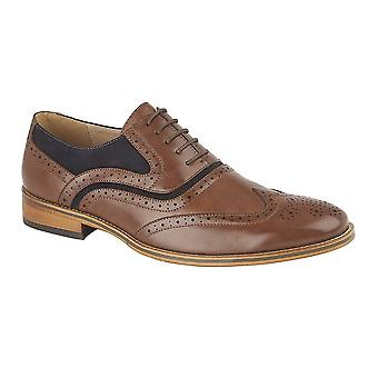 Goor Mens Brogue Oxford chaussures