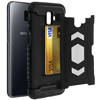 Shockproof Hybrid Protection Case, Samsung Galaxy J6 Plus Forcell Black