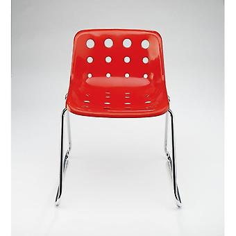 Chaise Loft Robin Day Sled Red Plastic Polo