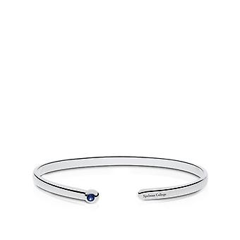 Spelman College Engraved Sterling Silver Sapphire Cuff Bracelet