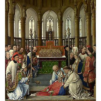 استخراج الجثث من سانت هوبير,روجييه فان دير Weyden, 50x45cm