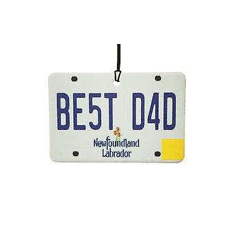 NEWFOUNDLAND och LABRADOR - bästa pappa registreringsskylt bil luftfräschare