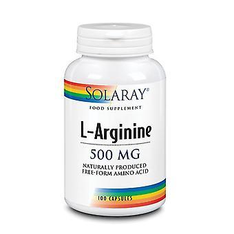 Solaray L-arginina 500mg cápsulas 100 (14063)