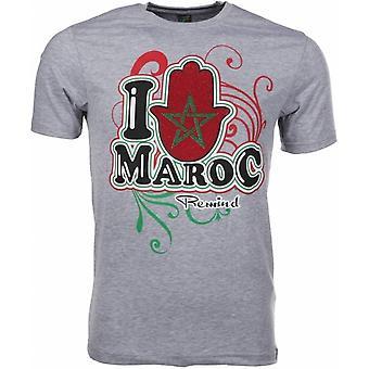 T-Shirt I Love Maroc-Grey