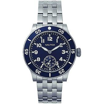Nautica houston Japanese Quartz Analog Man Watch with NAPHST005 Stainless Steel Bracelet