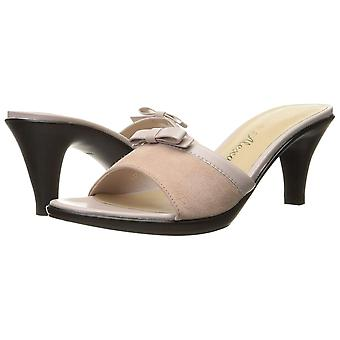 Athena Alexander Womens Dot Bow-Tie Open Toe Casual Slide Sandals