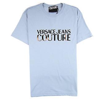 Versace jeans Couture logo bomull T-shirt ljusblå