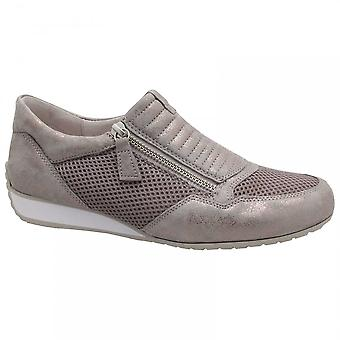 Gabor Brunello Women's Side Zip Trainers Taupe