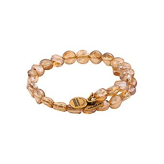 Alex and Ani Sunlight Luminous Light Beaded Wrap Bracelet - Rafaelian Gold
