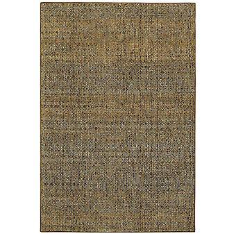 Atlas 8048p green/ gold indoor area rug rectangle 6'7