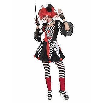 Harlequin Women ' s kostym cirkus clown Jester kostym kvinnors karneval