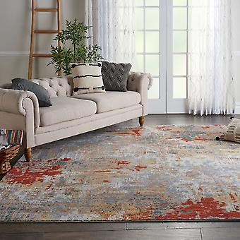 Artworks ATW03 Silver Grey Yellow  Rectangle Rugs Modern Rugs