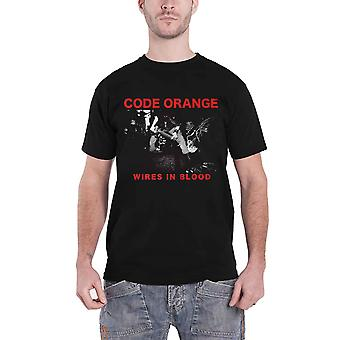 Code Orange T Shirt Wires In Blood Band Logo new Official Mens Black