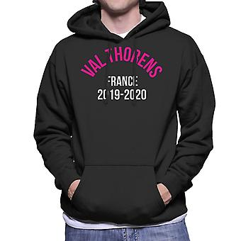 Val Thorens France 2019 2020 Skiing Men's Hooded Sweatshirt