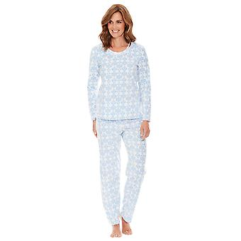 Ladies Womens Pyjama Waffle Print