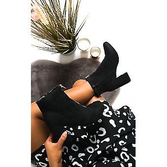 IKRUSH النساء اللبلاب الرمز البريدي كتلة كعب الكاحل الأحذية