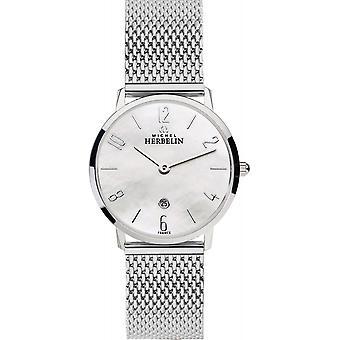 Michel Herbelin 16915-29B Women's Ikone Milanese Strap Wristwatch