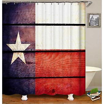Rustykalny Texas Flaga Prysznic Kurtyna