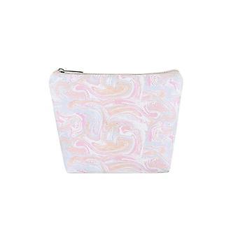 Jewelcity Womens/Ladies Marbled Pastel Large Makeup Bag