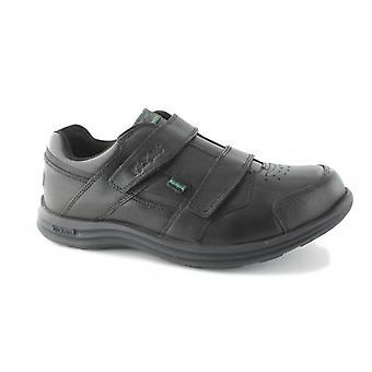Kickers Seasan Strap Boys Leather Shoes Black