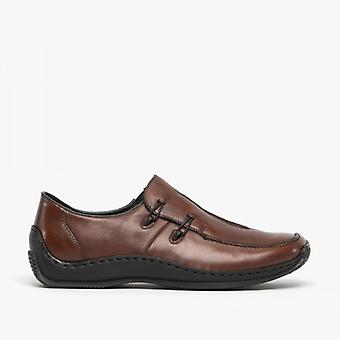 Rieker L1751-25 Damen Slip On Schuhe Mahagoni