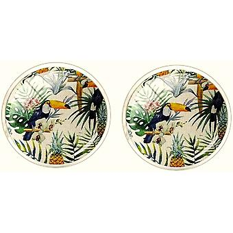 Bassin and Brown Toucan Forest Cufflinks - Green/Yellow/White