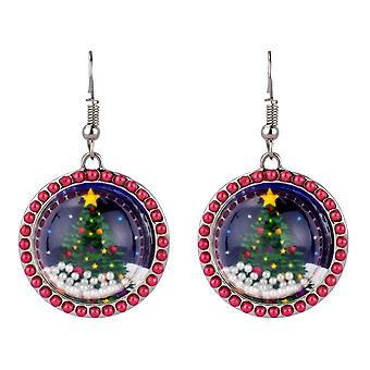 Christmas Snow Globe Effect Drop Earrings