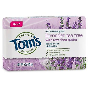 Tom's of maine natural bar soap, lavender tea tree, 5 oz