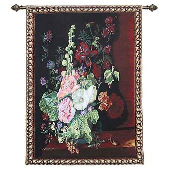 Jan van huysum - vase of flowers wall hanging by signare tapestry / 101cm x 139cm / wh-jvh-holl