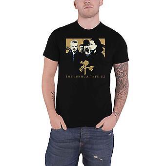 U2 T Shirt Joshua Tree Band Logo nouveau noir officiel pour homme