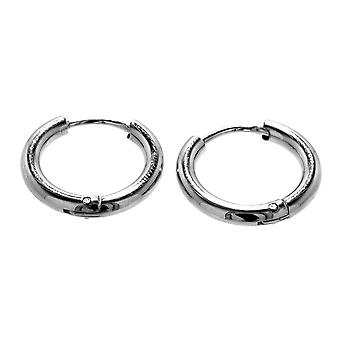 Folding creole silver 16mm (kcsi10) - stainless steel