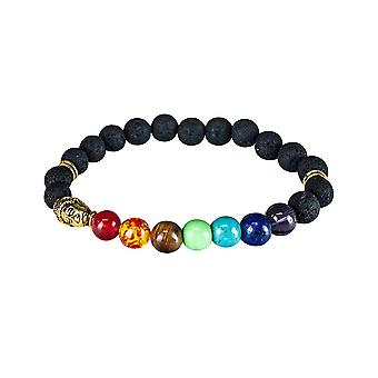 Chakra bracelet with gold details