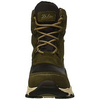 Skechers Womens D'Lites Fabric Almond Toe Mid-Calf Cold Weather, Olive, Size 9.5