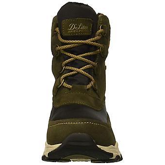 Skechers Womens D-apos;Lites Tissu Amande Orteil Mi-Calf Temps Froid, Olive, Taille 9.5