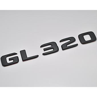 Matt schwarz GL320 flach Mercedes Benz Auto Modell Nummern Buchstaben Abzeichen Emblem für GLClass X164 X166 X167 AMG