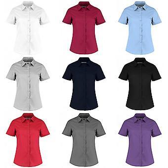 Kustom Kit Womens/Ladies Short Sleeve Tailored Poplin Shirt